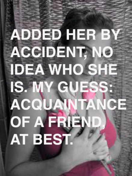 Acquaintance of a friend, at best.
